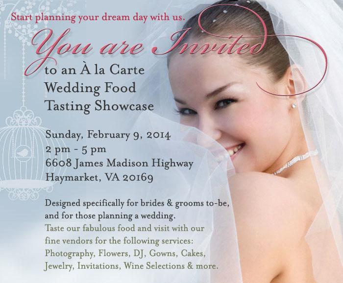 À la Carte Wedding Food Tasting Showcase